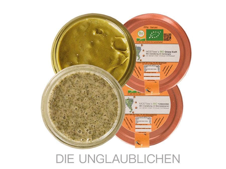 bio-cremehonig-gerstengras-brennesselsamen-superfood-mostbee.at